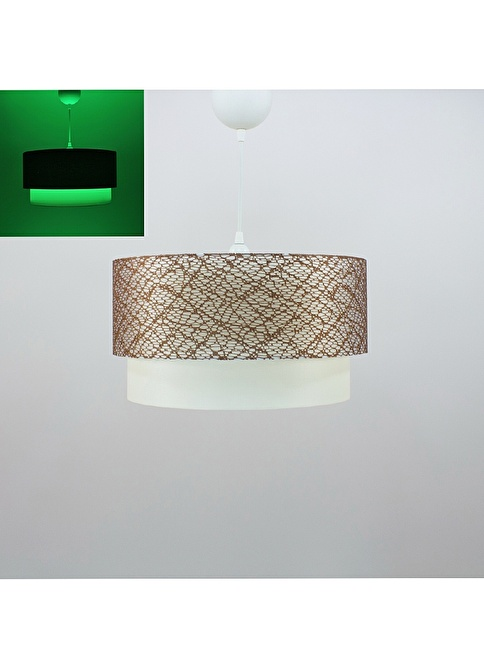 Crea Lighting Fosforix  Sarkıt 40 cm/File Kahve Kahve